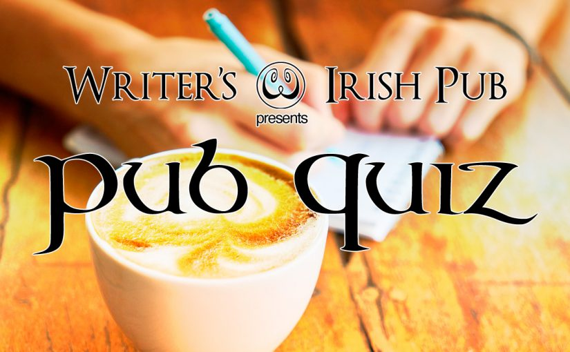 Writer's Irish Pub Quiz